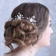 Ivy-Rose Hair Pin - Wedding Hairpins with ivory rose.