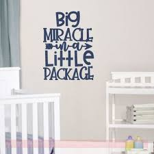 Such A Big Miracle Girl Vinyl Wall Lettering Words Baby Decal Nursery Sticker