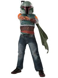 Kids Deluxe Boba Fett Costume Top Set ...