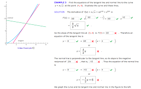 equations of the tangent line