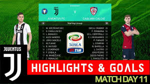 JUVENTUS vs CAGLIARI - Highlights and ...