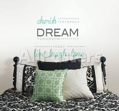 Cherish Dream Live Wall Decal Sticker Quote Wall Decal Allposters Com