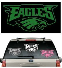 Eagles Car Decal Various Sizes Color Window Sticker Helmet Flag Eagles Car Window Stickers Football Decal