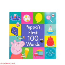 Peppa Pig: Peppa's First 100 Words - kiddylibrary.com