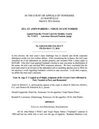 Fillable Online JILL ST. JOHN-PARKER v. VIRGIL DUANE PARKER - Tennessee ...  Fax Email Print - PDFfiller
