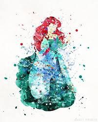 ariel print little mermaid princess