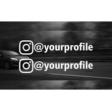 X2 Custom Instagram Username Decal Personalized Sticker Social Media Sticker Insta Name Jdm Hashtag Instagram Business Car Decal In 2020 Instagram Decal Custom Vinyl Stickers Personalized Stickers