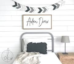 Boy S Name Sign Bedroom Sign Boys Room Decor Wood Etsy