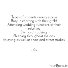 types of students during quotes writings by gulpreet mehra