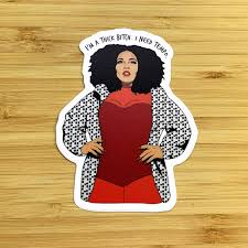 Lizzo I M A Thick Bitch Sticker Lucky Flowers