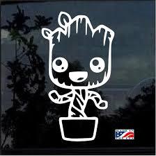 Baby Groot Pot Window Decal Sticker Custom Sticker Shop