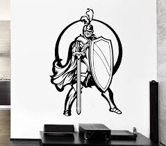 Free Shipping New Kids Room Wall Decal Knight Sword Shield Armor Warriors Medieval Vinyl Stickers Vinyl Stickers Wall Decalskids Room Aliexpress