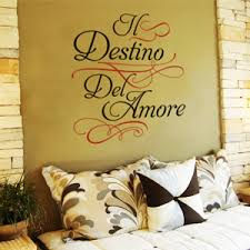 Italian Wall Decals Words And Quotes Stencils Alternative By Wisedecor