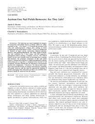 pdf acetone free nail polish removers