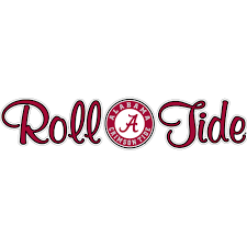 10 Roll Tide Script With Circle Logo Decal Wesellspirit Com