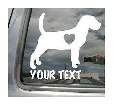 Beagle Dog Heart Love Custom Name Text Car Window Vinyl Decal Sticker 01117 Ebay