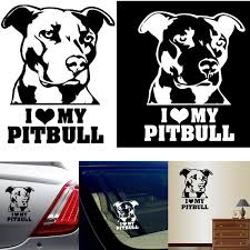 Creative Car Stickers I Love My Pitbull Graphics Wall Sticker Dog Wall Decal Car Decals Decor Car Decorated Accessories Wish