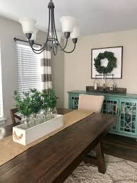 Beautiful Wood Caddy Centerpiece Farmhouse Style Kitchen With A Beautifu Dining Room Table Centerpieces Dining Room Table Decor Dining Table Decor Centerpiece