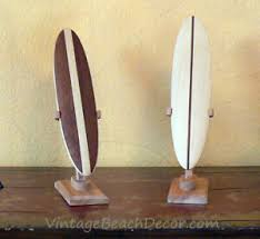 miniature surfboard with stands