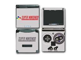 Super Nes Classic Retro Original Video Game Vinyl Decal Skin Sticker Cover For Nintendo Gba Sp Gameboy Advance System Newegg Com
