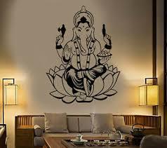 Vinyl Wall Decal India Hinduism Elephant God Ganesha Stickers 1919ig Ebay