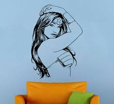 Wonder Woman Wall Decal Vinyl Sticker Comics Superhero Atr Murals Wall Decor 4 Ebay