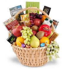 sympathy basket food fruit baskets