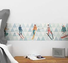 Skiers Border Wall Sticker Tenstickers