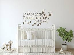 Wall Decal Kids To Go To Sleep I Count Antlers Not Sheep Etsy Childrens Wall Decals Boys Wall Decals Kids Wall Decals