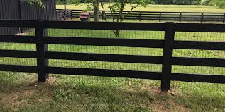Black Wood Fence Smucker Fencing