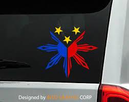 Philippine Vinyl Car Decal Sticker 4 75 W With Filipino Flag Design Ebay