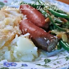 kielbasa potatoes and sauer