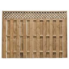 Fence 6 X 8 Pre Assembled Shadow Fence 73000694 Rona