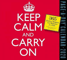 keep calm and carry on page a day calendar by workman