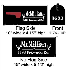 Lowest Prices On Custom Mailbox Lettering With Center Initial Scroll Decals