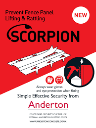 Anderton Concrete On Twitter Introducing The New Scorpion Clip Designed To Prevent Timber Panel Rattling And Panel Theft Please Contact The Sales Office For Details Https T Co Honom6njcs