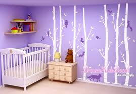 Birch Tree With Owls Wall Stickers Interior Design Dk242 Owl Wall Decal Owl Nursery Wall Decal Children Wall Decal Woodland Animals