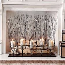 amazing fireplace candle holder living