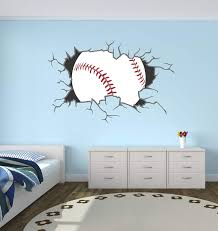 Amazon Com West Mountain Baseball Breaking Wall Decal Home Decor Art Vinyl Sticker Home Kitchen
