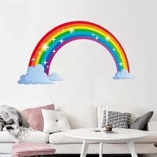 Rainbow Wall Decal Kids Wall Sticker Nursery Home Decor Bedroom Wall Decor Walmart Com Walmart Com