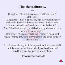 The glass slipper..   Short story by Poornima Kamath   Momspresso