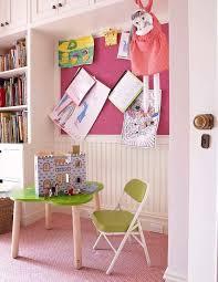 Hot Pink Linen Pin Board On Beadboard Wall Traditional Girl S Room