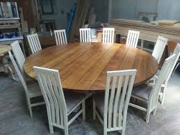 large round dining table seat 10 beige