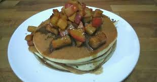 pancakes with homemade cinnamon apple