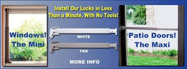 wedgit sliding glass door lock
