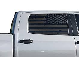 Toyota Tundra Crew Max Distressed Usa Flag Decals In Matte Black For Side Windows America Toyota Tundra American Flag Accessories Toyota Tundra Accessories