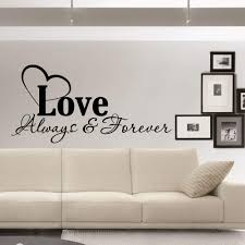 Amazon Com Love Always And Forever Wall Decal Quote Family Wall Quotes Inspirational Wall Sticker Vinyl Lettering Art Home Decor Q042 Kitchen Dining