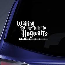 Amazon Com Bargain Max Decals Waiting For Letter From Hogwarts Sticker Decal Notebook Car Laptop 5 5 White Automotive
