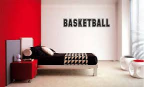 Basketball Decal Wall Vinyl Decor Sticker Room Sports Basketball Decal Kids Room Ebay