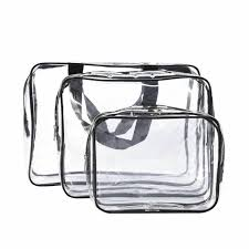 dozen clear cosmetic travel pouch bags